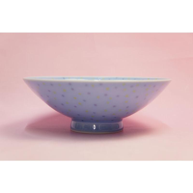 白山陶器 平茶わん (青てんてん) shokki 05