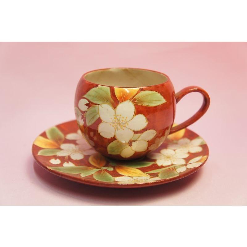 赤濃桜 コーヒー碗皿|shokki