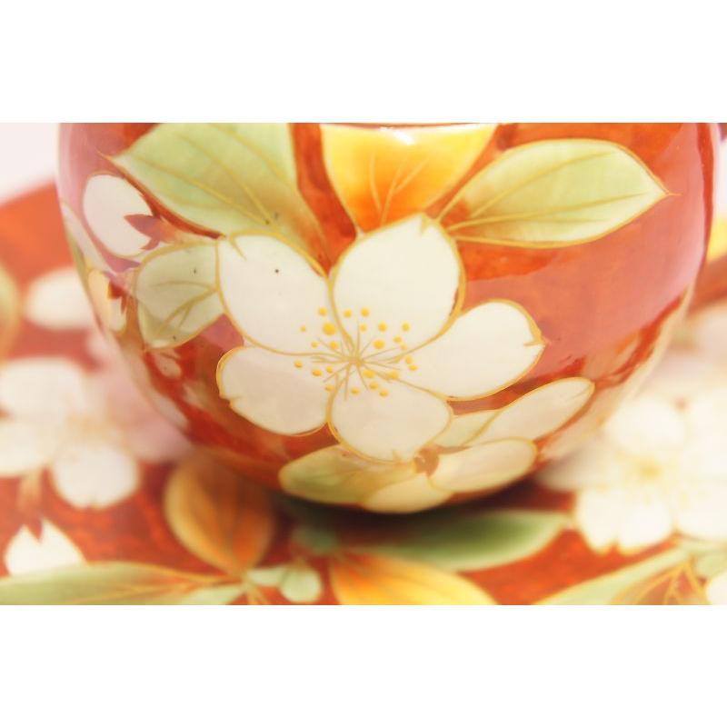 赤濃桜 コーヒー碗皿|shokki|02