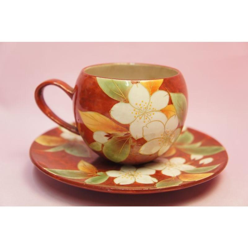 赤濃桜 コーヒー碗皿|shokki|05