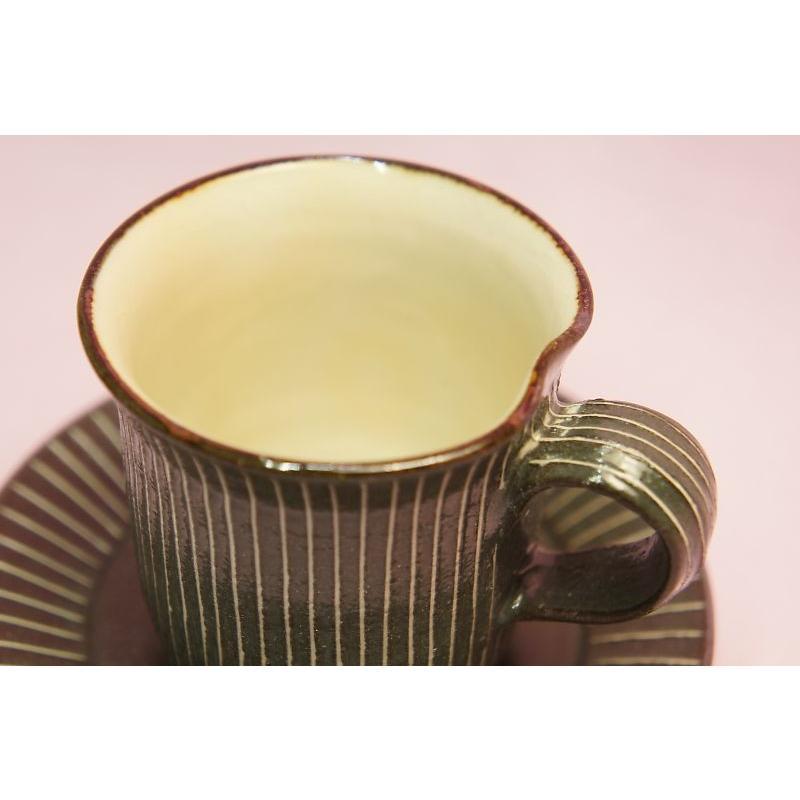 黒十草 デミタス碗皿|shokki|02