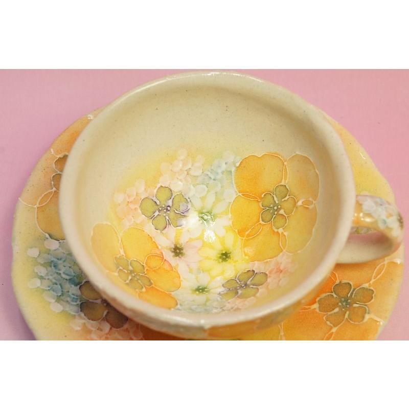 ゆずりは 平安京花 碗皿|shokki|02