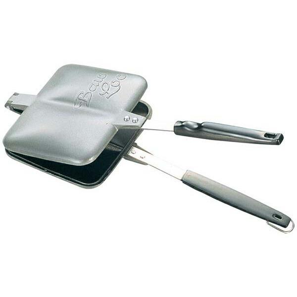 バウルー サンドイッチトースター ダブル 日本製 国産品 直火 ホットサンドメーカー 内面フッ素樹脂加工 イタリア商事|shokkishibuya