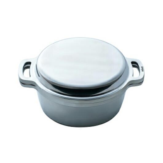 正規品 KING 無水鍋 18cm IH対応 ハルムスイ 日本製 高品質 両手鍋 ステンレス 無水調理|shokkishibuya