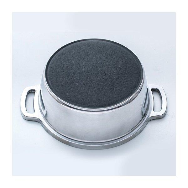 正規品 KING 無水鍋 18cm IH対応 ハルムスイ 日本製 高品質 両手鍋 ステンレス 無水調理|shokkishibuya|02