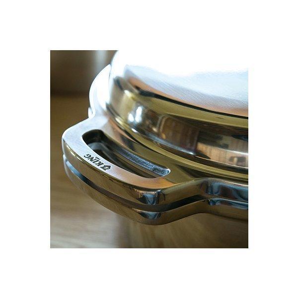 正規品 KING 無水鍋 18cm IH対応 ハルムスイ 日本製 高品質 両手鍋 ステンレス 無水調理|shokkishibuya|08