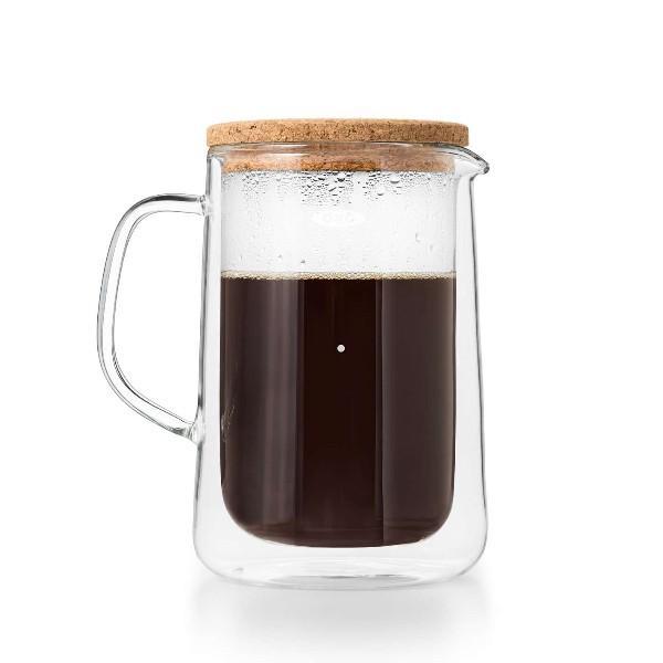 OXO オクソー ダブルウォールガラスサーバー 二重構造 ピッチャー コーヒーティーポット 結露防止 保冷 保温 耐熱|shokkishibuya|02