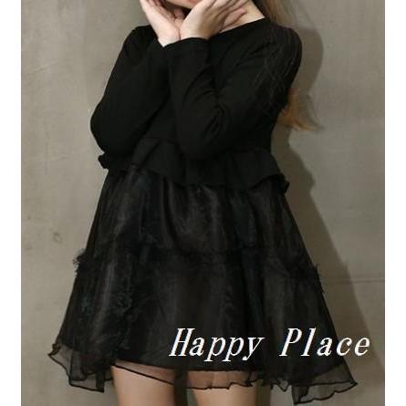 Moon Flower (ムーンフラワー) ガールズ 女の子 フォーマル ワンピース レース オーガンジー リボン髪飾り ネックレス セット シフォン|shokolaballet|03