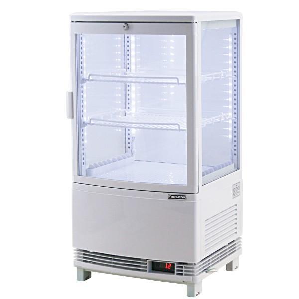 新型4面ガラス冷蔵ショーケースLED仕様 63L(前開き) [RCS-4G63SL] (北海道・沖縄・離島は送料別途お見積り致します)