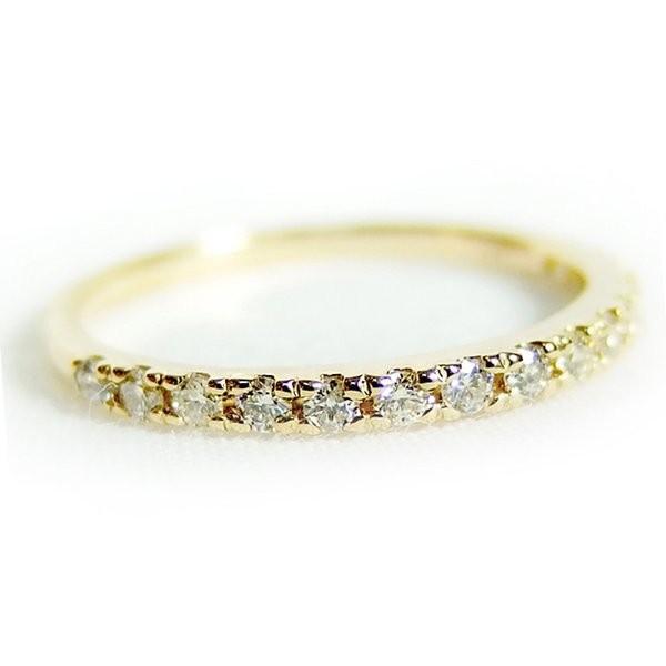 お歳暮 ダイヤモンド リング ハーフエタニティ 0.2ct 12号 K18 イエローゴールド ハーフエタニティリング 指輪, EAIM d3962349