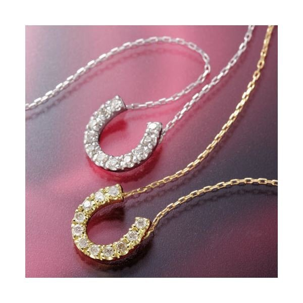 人気定番の K18ホースシューダイヤモンドペンダント/ネックレス YG, カコガワシ d166bbf2