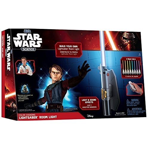 アンクルミルトンStar Wars Science Multicolor Lightsaber Room Light - Uncle Milton