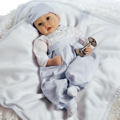 パラダイスギャラリーズParadise Galleries Reborn Baby Boy in Silicone Vinyl, 22 inch Newborn Doll Royal Baby Prince Geor