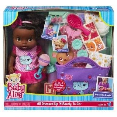 ベビーアライブBaby Alive All Dressed Up N' Ready To Go Doll - African American