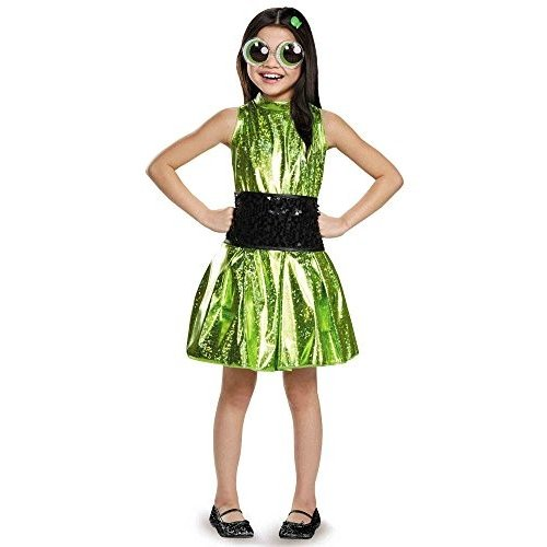 パワーパフガールズButtercup Deluxe Powerpuff Girls Cartoon Network Costume, Medium/7-8