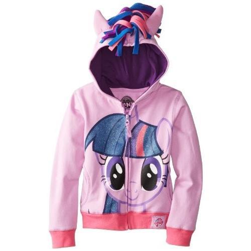 マイリトルポニーMy Little Pony Little Girls' Twilight Sparkle Hoodie, 紫の/Multi, 4