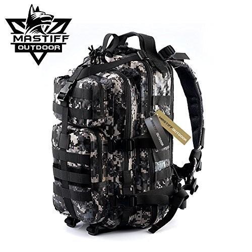 タクティカルバックパックMastiff Outdoor Assault Tactical Backpack Military MOLLE Hiking
