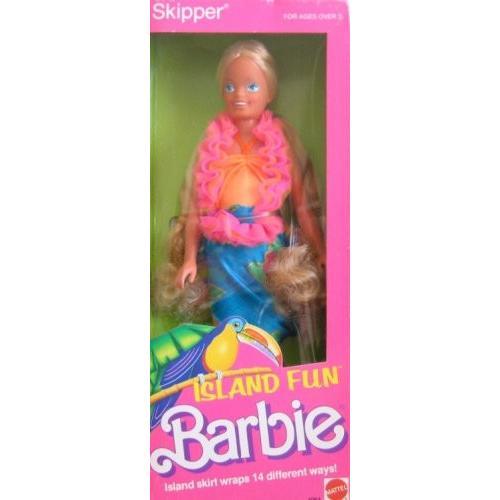 バービーMattel Skipper Island Fun Barbie Doll (1987)