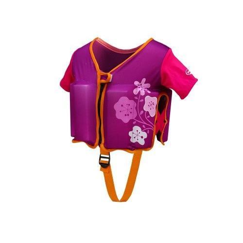 フロートSwimWays Swim Vest - 紫の/ピンク