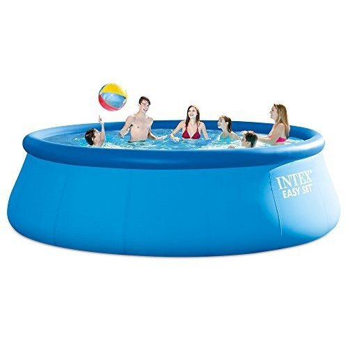 プールIntex 15ft X 48in Easy Set Pool Set with Filter Pump, Ladder, Ground Cloth & Pool Cover