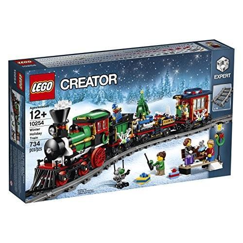 レゴLEGO Creator Expert Winter Holiday Train 10254 Christmas Train Set with Full Circle Train Track, Locomotive, and Spinning Ch