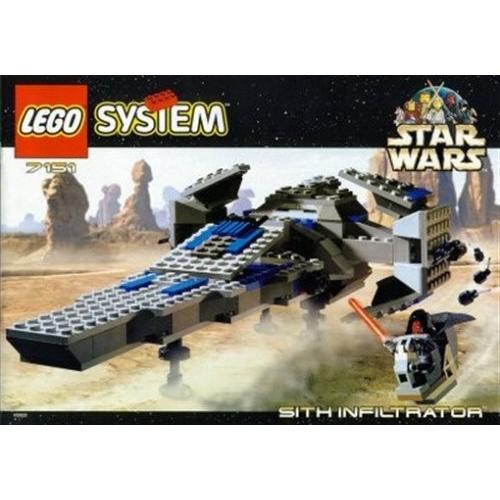 レゴLEGO Star Wars Episode 1 Darth Maul Sith Infiltrator Spaceship Set 7151 (1999)