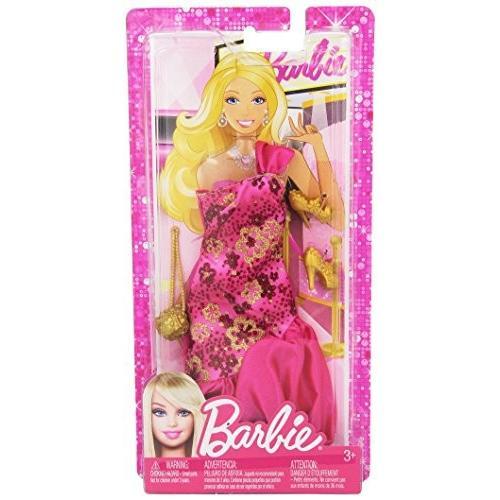 バービーBarbie Fashionistas- Sassy ピンク Gown