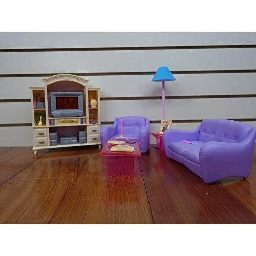 1/6ドールMy Fancy Life 24012 Dollhouse Furniture, Living Room with TV/DVD Set and Show Case Play Set