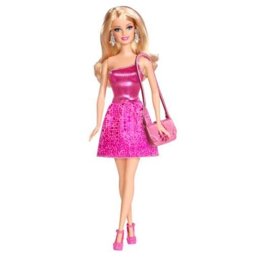 バービーBarbie Glitz Doll, ピンク Dress