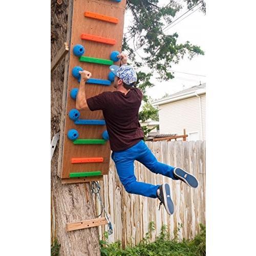 並行輸入品10 Pack:Pegboard Receivers (15 Degree Wall) | Screw-on Climbing Holds | GreenLarge