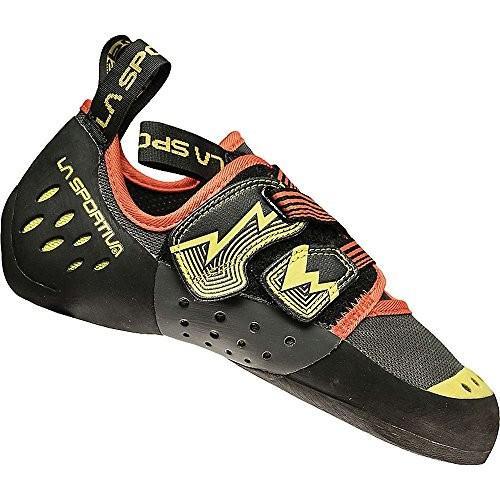 並行輸入品La Sportiva Men's OXYGYM Climbing Shoe, Carbon/Sulphur, 3810N-900702-38 6