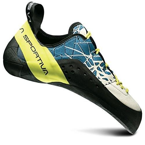 並行輸入品LA SPORTIVA KATAKI Climbing Shoe, Ocean/Sulphur, 3520A-606702-35 3.5