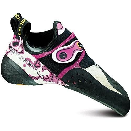 並行輸入品La Sportiva Women's Solution Performance Rock Climbing Shoe, White/Pink, 41 M EU10J-WP-41 9.5