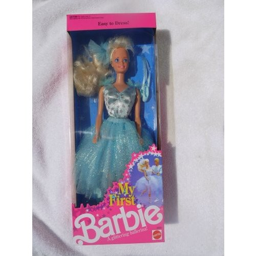 バービー人形My First Barbie in Pale 青 Easy-To-Dress Glittering Ballerina Costume (1991)
