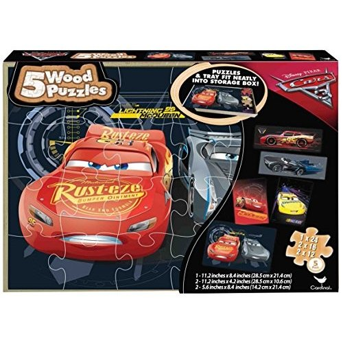 パウパトロールCars 3 Wooden Puzzle (5 Pack)