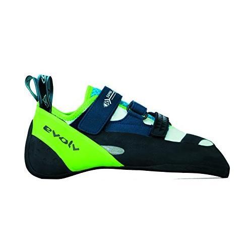 並行輸入品Evolv Supra Climbing Shoes - White/Neon Green 7.5EVL0291 7.5 D(M) US