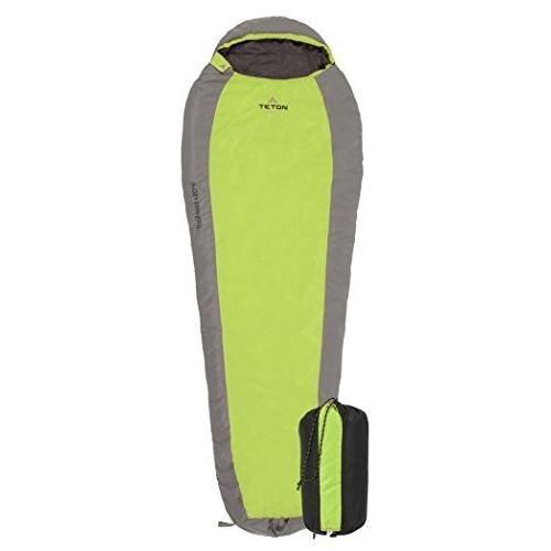 キャンプTETON Sports TrailHead Sleeping Bag for Adults; Lightweight Camping, Hiking1022G Adult - 87
