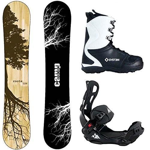 ウィンタースポーツCamp Seven Package Roots CRC Snowboard-156 cm-System LTX Binding Large-SyBoot Size 9
