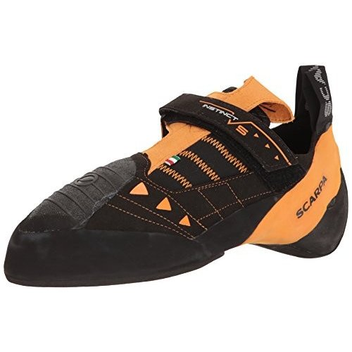 並行輸入品SCARPA Men's Instinct VS Climbing Shoe, Black/Orange, 1570013/000 15