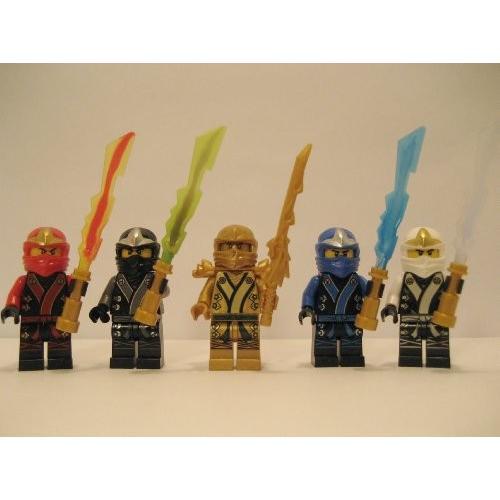 レゴNew 2013 Lego Ninjago Kimono Ninja's - Set of 5 - (Loose) From Original Packaging - Cole, Jay, Kai, ゴールドen Lloyd, & Zane w/
