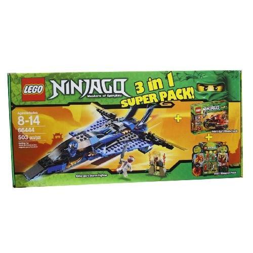 レゴLego Ninjago 66444 Masters of Spinjitzu 3 in 1 Super Pack contains 9442, 9441 and 9591