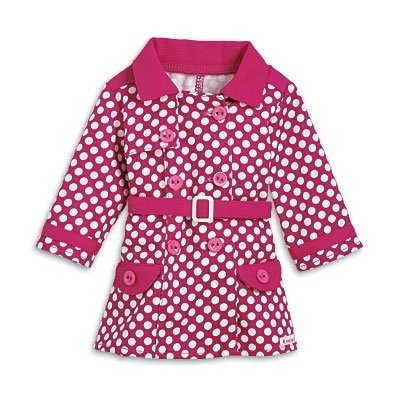 アメリカンガールドールAmerican Girl My AG 2014 Rainy Day Coat for Dolls + Charm