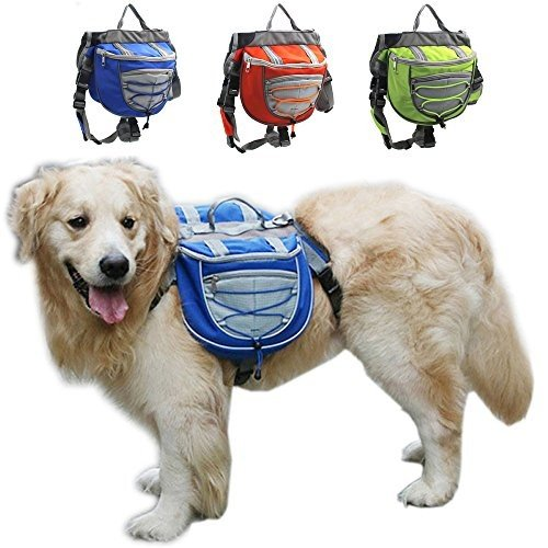 海外正規品Fengtu Camping Hiking Dog Packs Backpacks Adjustable Service Dog Supply Backpack HarnSmall