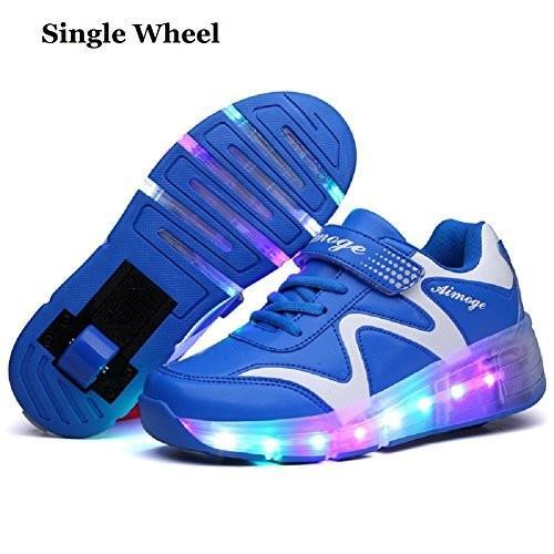 海外正規品Nsasy Wheel Shoes Roller Shoes Girls Boys Roller Sneakers Kids Roller Skate Shoes LED6 1.5 Little Kid