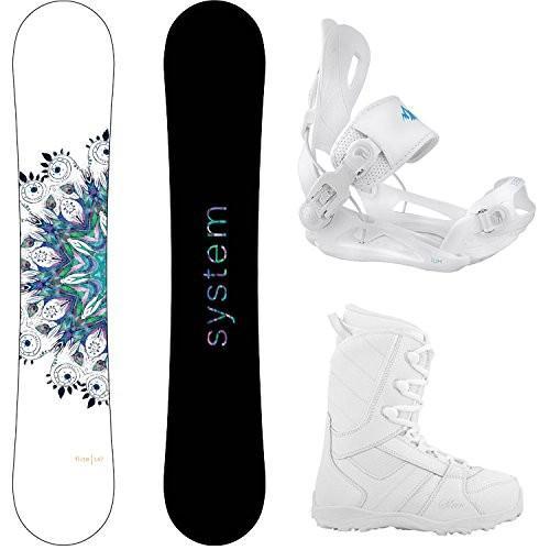ウィンタースポーツSystem Package Flite Women's Snowboard-149 cm Lux Bindings-Siren Lux WomeBoot Size Size 8