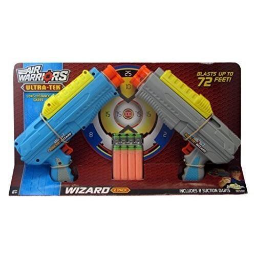 バズビーBuzz Bee Air Warriors Ultra-Tek Wizard 2-Pack Dart Blaster Guns Toys