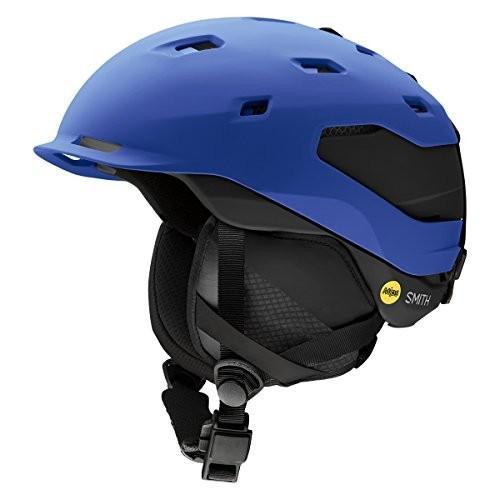 ウィンタースポーツSmith Optics Quantum Adult Mips Ski Snowmobile Helmet - Matte Klein Blue/Smith Small
