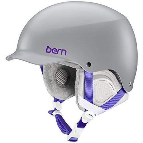 スノーボードBern Muse Snow Helmet (Satin グレー with グレー Liner, Small)