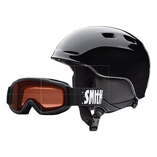 ウィンタースポーツSmith Optics Zoom Jr. Sidekick Combo Ski Snowmobile Helmet - 黒/SmallSmall (48-53CM)