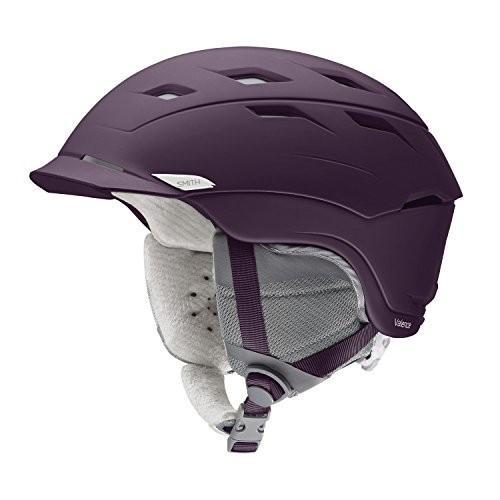 スノーボードSmith Optics Womens Valence Helmet, Matte 黒 Cherry - Large